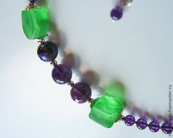 Small Necklace Provence amethyst, quartz, Necklace, Moscow,  Фото №1