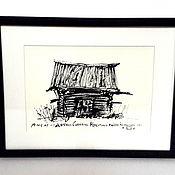 Картины и панно ручной работы. Ярмарка Мастеров - ручная работа Амбар из деревни Собакино. Handmade.