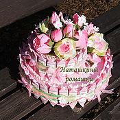 """Торт-шкатулка с конфетами Визит и Рафаэлло """"Розовая мечта"""""""