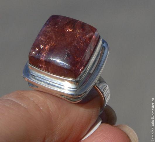Кольца ручной работы. Ярмарка Мастеров - ручная работа. Купить Кольцо с турмалином (С9). Handmade. Коралловый, камни байкала