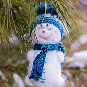 """Снеговики ручной работы. Ярмарка Мастеров - ручная работа Елочные игрушки """"Снеговики"""". Handmade."""