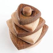 Куклы и игрушки handmade. Livemaster - original item Pyramid triangular wooden. Handmade.