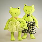 Куклы и игрушки ручной работы. Ярмарка Мастеров - ручная работа Веселые лягушки. Handmade.