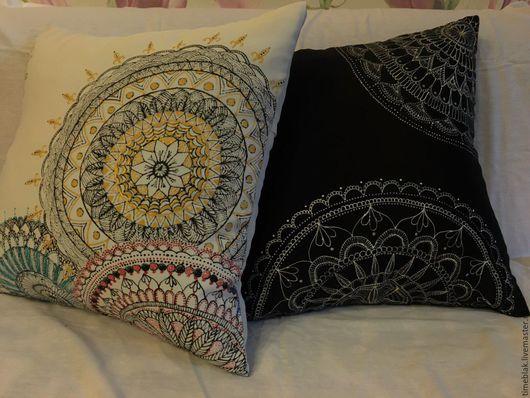 Текстиль, ковры ручной работы. Ярмарка Мастеров - ручная работа. Купить декоративные подушки. Handmade. Черный, декоративная подушка, подарок