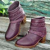 Boots handmade. Livemaster - original item Leather women`s boots spring and autumn Jessica. Handmade.