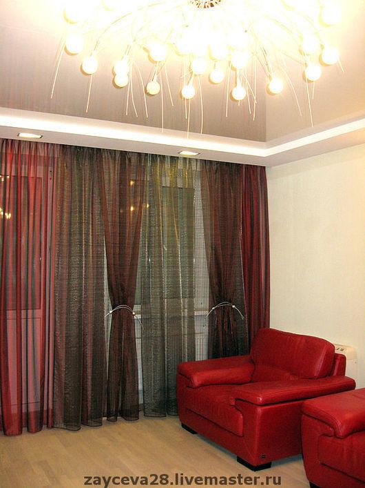 """Текстиль, ковры ручной работы. Ярмарка Мастеров - ручная работа. Купить шторы """"Красный бывает разный"""". Handmade. Шторы, тюль"""
