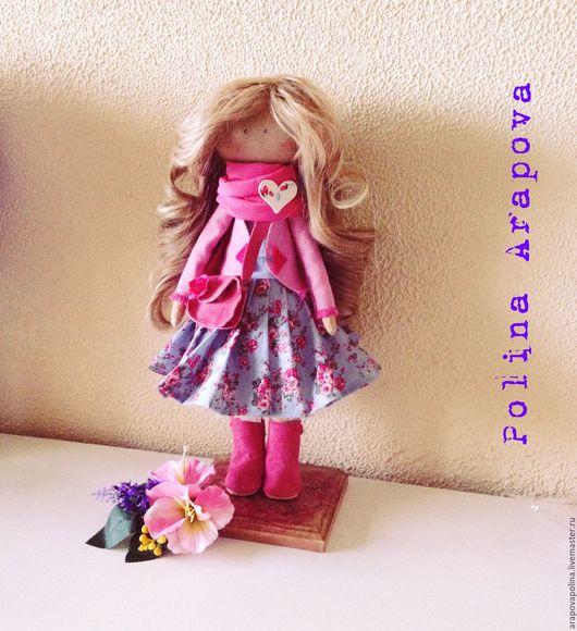 Человечки ручной работы. Ярмарка Мастеров - ручная работа. Купить Текстильная куколка Лили. Handmade. Розовый, кукла ручной работы