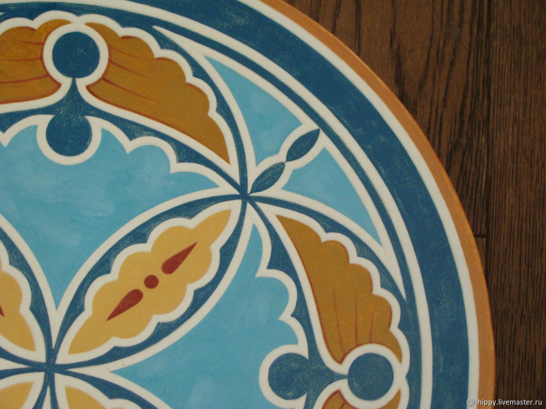 Синь. Ферапонтово. Керамическое блюдо