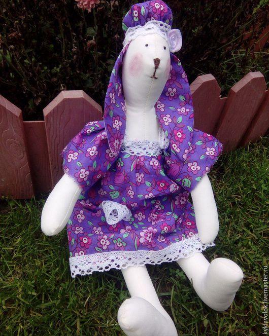 Куклы Тильды ручной работы. Ярмарка Мастеров - ручная работа. Купить Тильда заяц. Handmade. Тильда заяц, хлопок