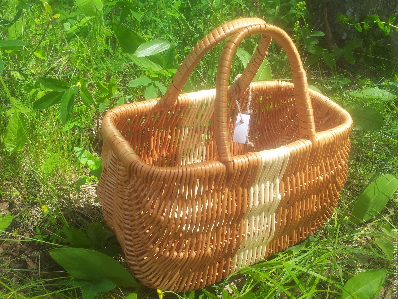 Плетеная корзинка-сумка