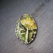 Украшения handmade. Livemaster - original item Brooch Dandelion..... A cast of a living flower.. Handmade.
