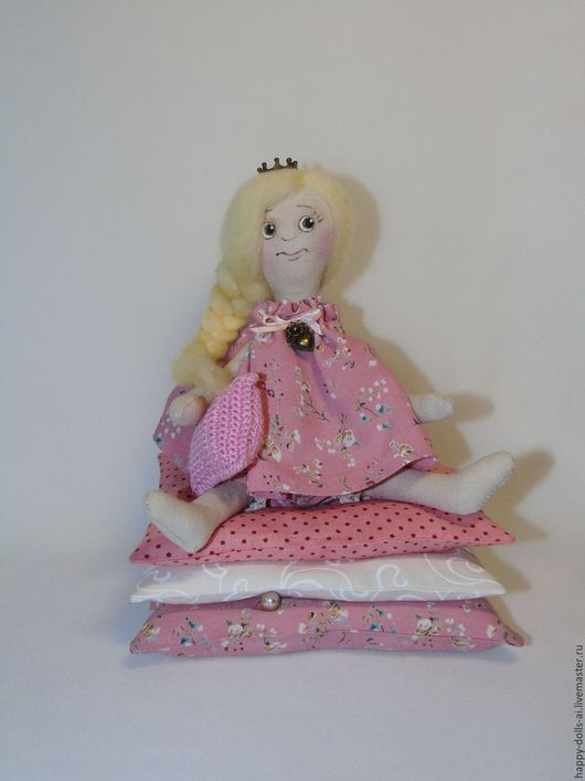 Куклы Тильды ручной работы. Ярмарка Мастеров - ручная работа. Купить Принцессы на горошинах. Handmade. Розовый, кукла интерьерная
