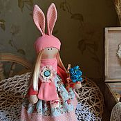 Куклы и игрушки ручной работы. Ярмарка Мастеров - ручная работа Куколка - зая. Handmade.