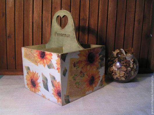 Корзины, коробы ручной работы. Ярмарка Мастеров - ручная работа. Купить Sunflowers Короб для кухни. Handmade. Прованс, солнечный, разноцветный