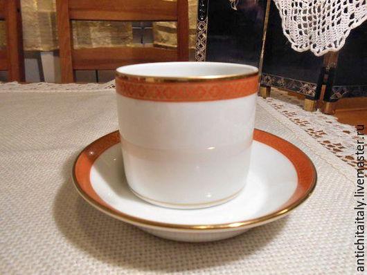 Винтажная посуда. Ярмарка Мастеров - ручная работа. Купить Италия Richard Ginori Чайно-кофейная пара. Handmade. Фарфор, для дома