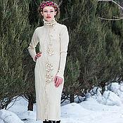 Одежда ручной работы. Ярмарка Мастеров - ручная работа Вязаное зимнее нарядное платье. Handmade.