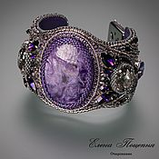 Украшения handmade. Livemaster - original item Purple Silver. Purple Charm bracelet. For example. Handmade.