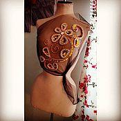 """Одежда ручной работы. Ярмарка Мастеров - ручная работа Вышивка бисером """"На платье"""". Handmade."""