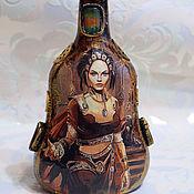 Посуда ручной работы. Ярмарка Мастеров - ручная работа Декоративная бутыль в стиле стимпанк (4). Handmade.