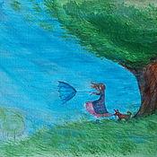 """Картины и панно ручной работы. Ярмарка Мастеров - ручная работа картинка """"Не отдам!"""". Handmade."""