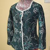 """Одежда ручной работы. Ярмарка Мастеров - ручная работа Валяный пиджак """" Изумрудный """". Handmade."""