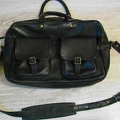 Мужская сумка ручной работы. Ярмарка Мастеров - ручная работа Кожаная мужская сумка. Handmade.