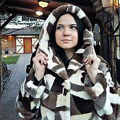 Одежда ручной работы. Ярмарка Мастеров - ручная работа Меховая куртка бомбер из стриженного канадского бобра. Handmade.