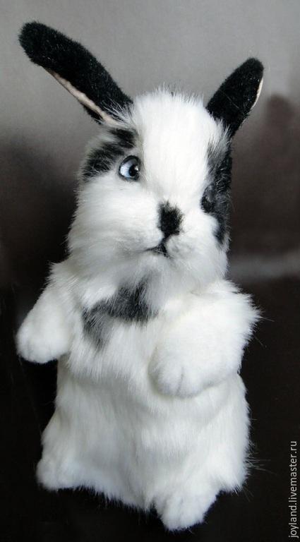 Куклы и игрушки ручной работы. Ярмарка Мастеров - ручная работа. Купить Кролик. Handmade. Чёрно-белый, коллекционная игрушка, миништоф