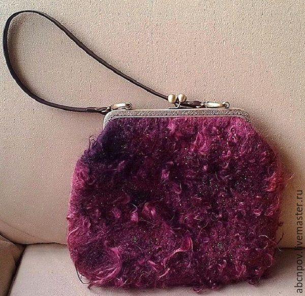 Bag of felt 'Curly', Classic Bag, Liski,  Фото №1