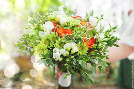 Свадебные цветы ручной работы. Ярмарка Мастеров - ручная работа. Купить Букет невесты / Свадебный букет. Handmade. Салатовый