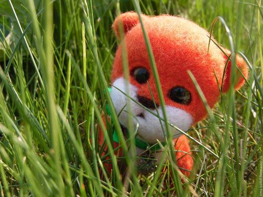 Игрушки животные, ручной работы. Ярмарка Мастеров - ручная работа. Купить Котёнок Лаки. Handmade. Рыжий, на удачу, четырехлистный клевер
