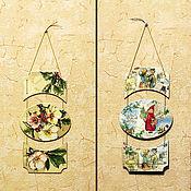 Для дома и интерьера ручной работы. Ярмарка Мастеров - ручная работа Новогоднее панно - подвеска. Handmade.