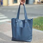 Сумки и аксессуары handmade. Livemaster - original item Leather bag BLUE. Handmade.