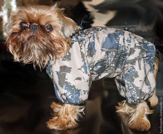 Одежда для собак, ручной работы. Ярмарка Мастеров - ручная работа. Купить комбинезон для маленькой, но смелой собачки. Handmade. Хаки