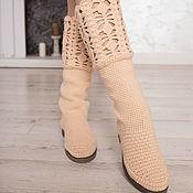 """Обувь ручной работы handmade. Livemaster - original item Demi-season boots """"Christina"""". Handmade."""