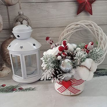 Souvenirs and gifts handmade. Livemaster - original item Winter composition (option 1). Handmade.