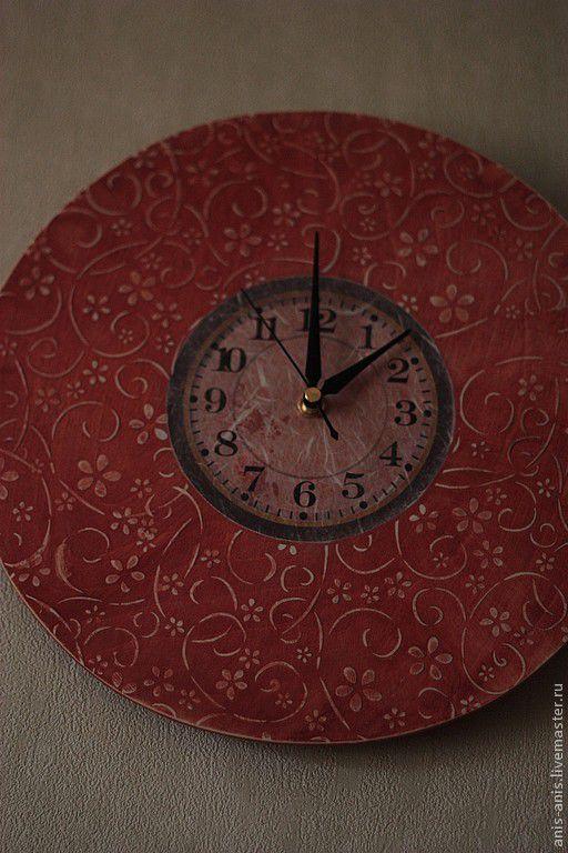 """Часы для дома ручной работы. Ярмарка Мастеров - ручная работа. Купить Часы """" Розовый туман"""". Handmade. Розовый"""