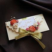 Открытки ручной работы. Ярмарка Мастеров - ручная работа Подарочный конверт. Handmade.
