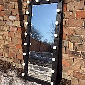 Для дома и интерьера ручной работы. Ярмарка Мастеров - ручная работа Гримерное зеркало BLACK STAR 180/80. Handmade.