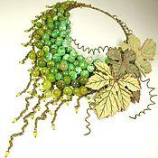 Украшения handmade. Livemaster - original item Grape Parfait. Necklace made of natural stones, brooch leather. Handmade.