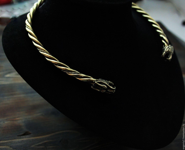 Scandinavian bronze necklace, Necklace, Volgograd,  Фото №1