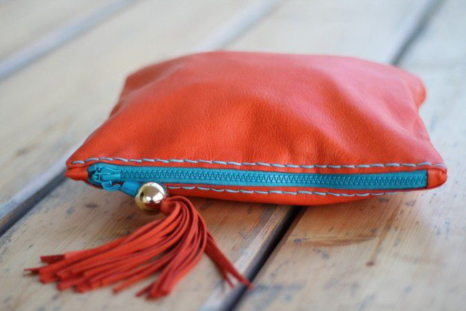 Handbags handmade. Livemaster - handmade. Buy Clutch bag art. S28R01.Russian style, solar, orange clutch, genuine leather