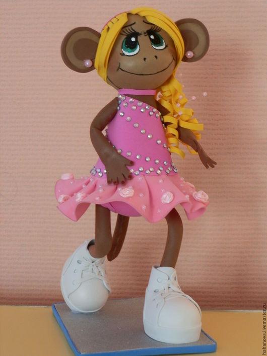 Коллекционная кукла ручной работы. Обезьянка -Аленка.