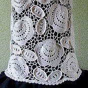 Одежда ручной работы. Ярмарка Мастеров - ручная работа Юбка крючком Букет белых роз ирландское кружево. Handmade.