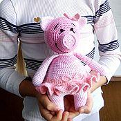 Куклы и игрушки handmade. Livemaster - original item Kind pink pig-a symbol of 2019.. Handmade.