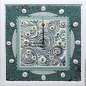 """Для дома и интерьера ручной работы. Ярмарка Мастеров - ручная работа """"МАЛАХИТОВАЯ ШКАТУЛКА"""" настенные часы. Handmade."""