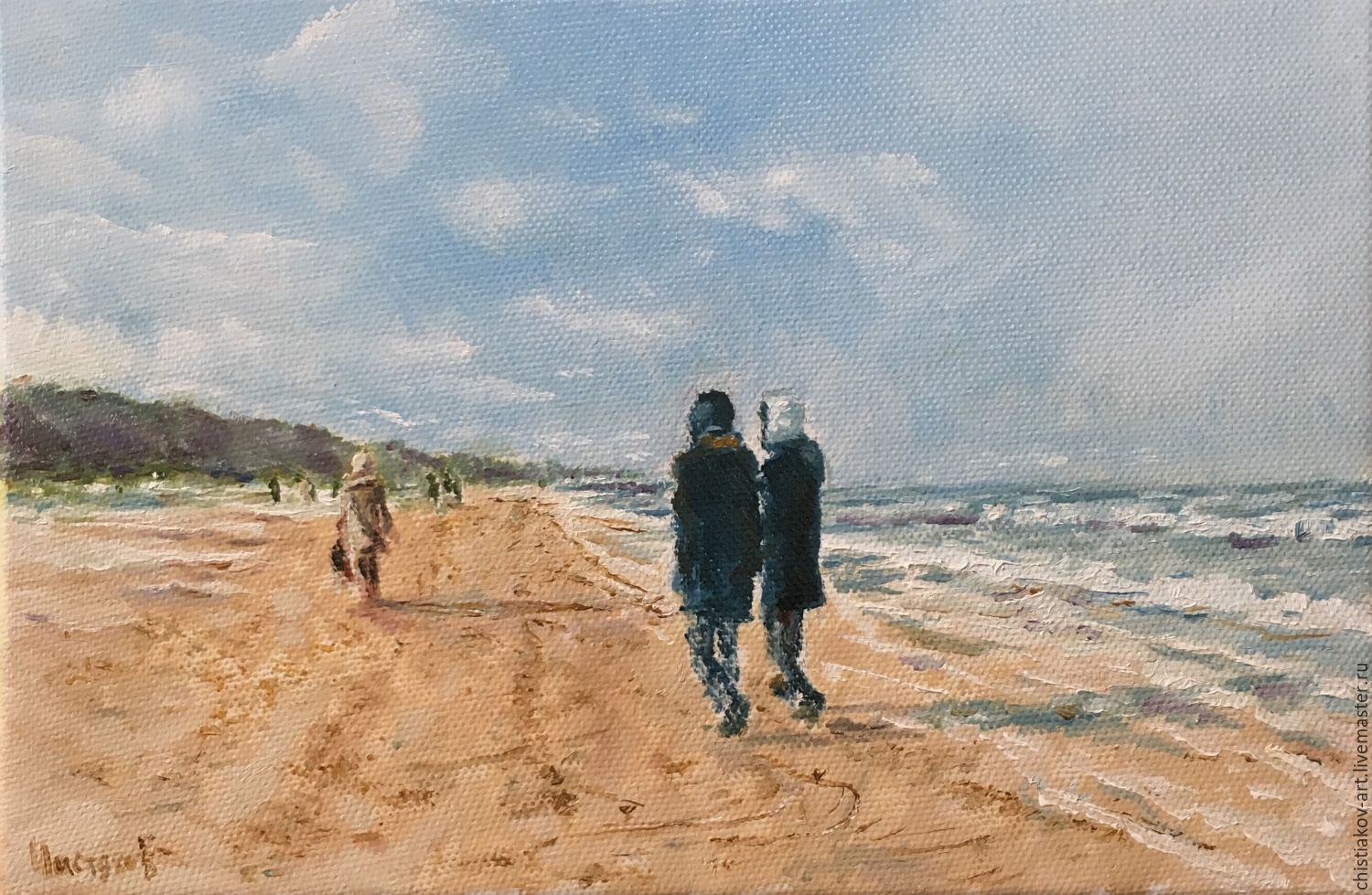 Painting 'Baltic coast' oil on canvas 30-20, Pictures, St. Petersburg,  Фото №1