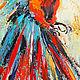 """Абстракция ручной работы. Картина с попугаем """"Летящий в Ореоле Света"""" (холст, масло). ЯРКИЕ КАРТИНЫ Наталии Ширяевой. Ярмарка Мастеров."""