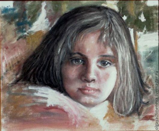 Люди, ручной работы. Ярмарка Мастеров - ручная работа. Купить Портрет девочки, копия работы Н.Блохина. Handmade. Комбинированный