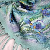 """Аксессуары ручной работы. Ярмарка Мастеров - ручная работа Теплый батик, валяный бактус """"Апрельский ветер"""". Handmade."""